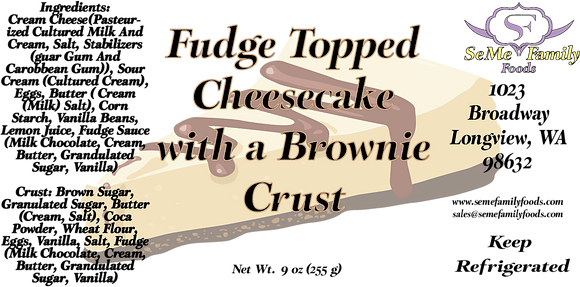 Fudge Topped Cheese Cake