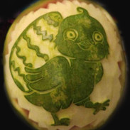 Fruit Carving Chick