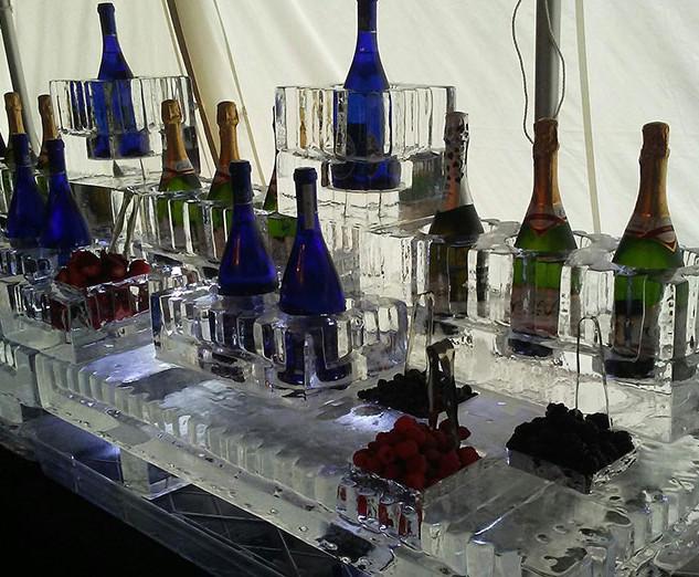 Ice Display Champagne Bottle Holder