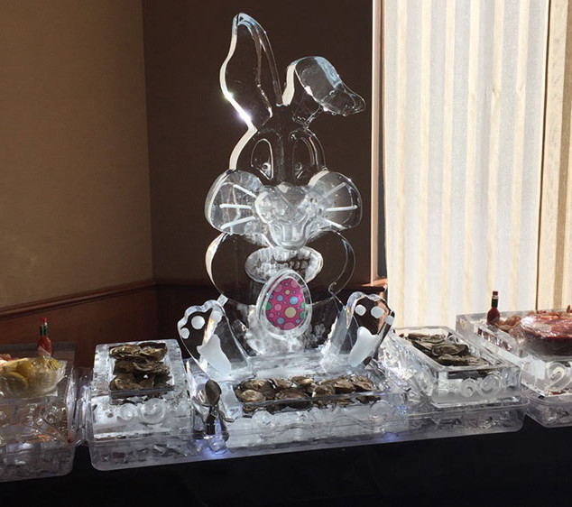 Easter Food Ice Display