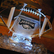 Bar Mitzvah Football Ice Sculpture