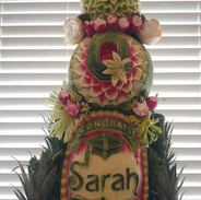 Fruit Carving Stacked Melons