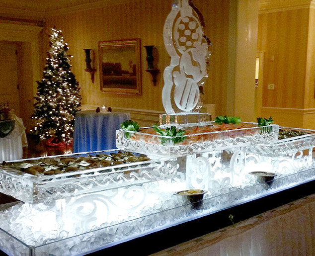 Seafood-Trays-Ice-Sculpture-with-Triple-