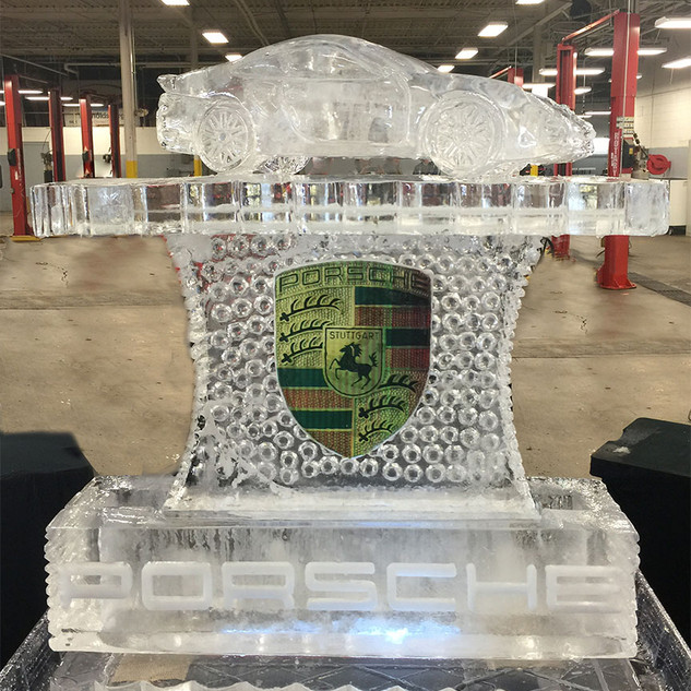 Porsche Ice Sculpture