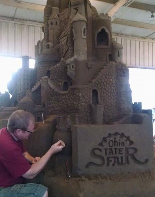 Sand Sculpture Ohio State Fair