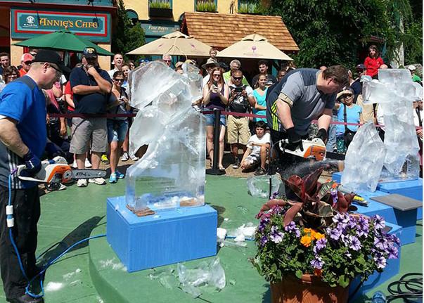Ice Sculpting Demonstration