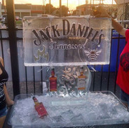 Double Tube Luge Ice Sculpture