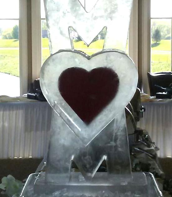 Mom Blocks Ice Sculpture