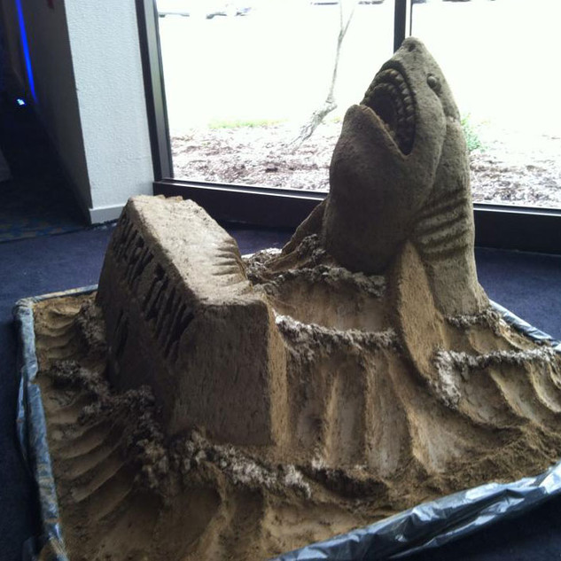 Shark Tank Sand Carving