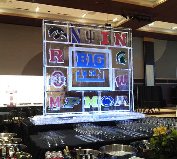 Big Ten Logo Ice Display