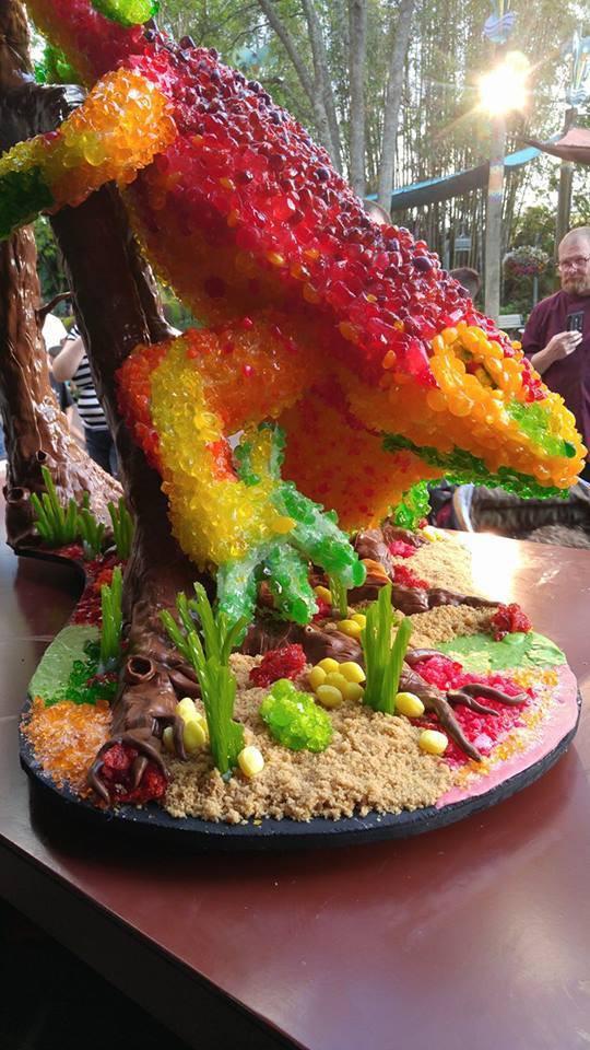 Lizard Candy Sculpture