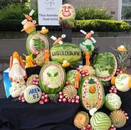 """Fruit Carving """"Disclosure"""" Display"""