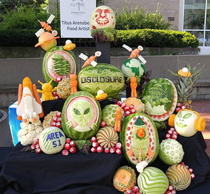 "Fruit Carving ""Disclosure"" Display"