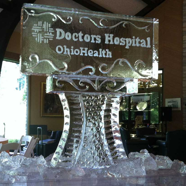 Doctor's Hospital Ice Sculpture