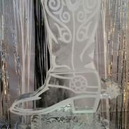 Cowboy Boot Ice Sculpture