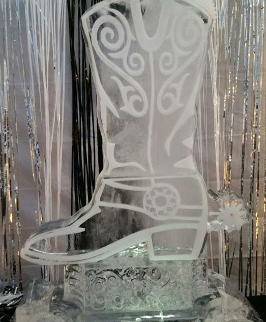 Cowboy Boot Ice Sculpture