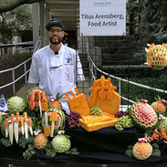 Fruit Carving and Cheese Display