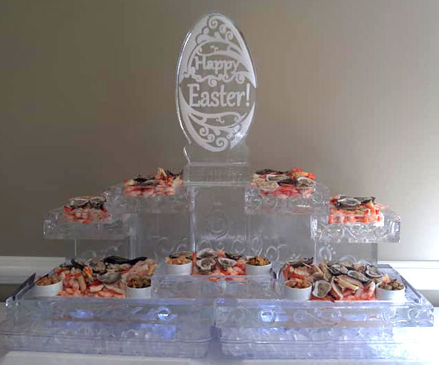 Food Ice Display Happy Easter