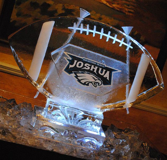 Luge Ice Sculpture of Football