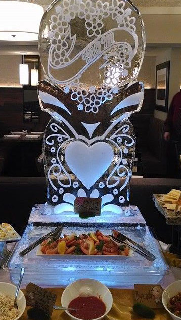 Mother's Day Ice Sculpture
