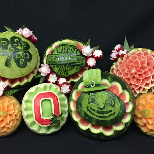 Fruit Carving St. Patrick's Day