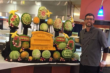Fruit and Cheese Carving