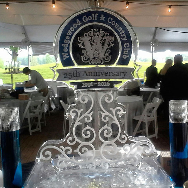 25th Anniversary Ice Sculpture