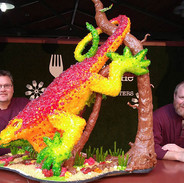 Food Art Candy Lizard