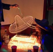 Luge Ice Sculpture Sombrero Hat