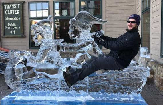 Ice Sculpture of Sled