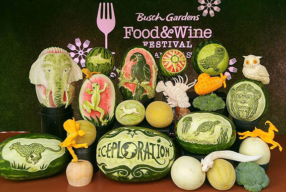 Fruit Carving Display