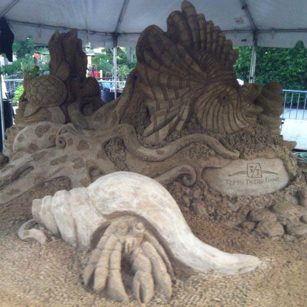 Under the Sea Sand Carving