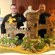 Food Art Potato Carving Castle