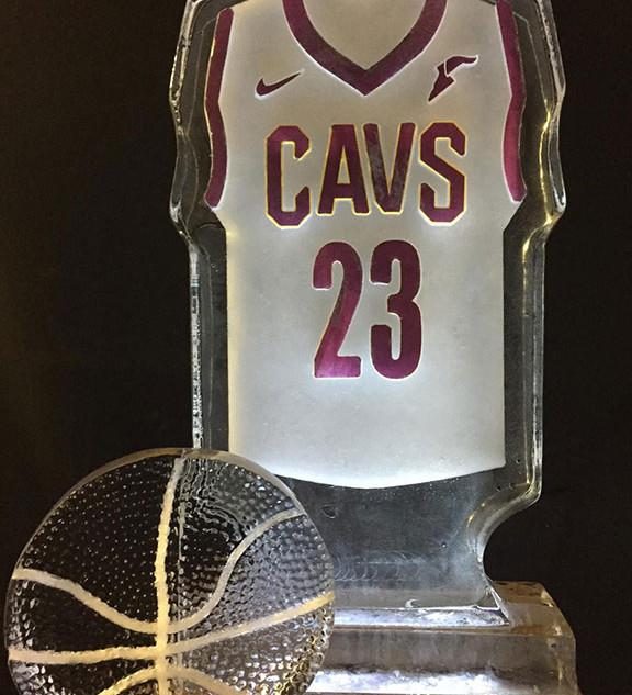 Ice Sculpture Cavs Jersey