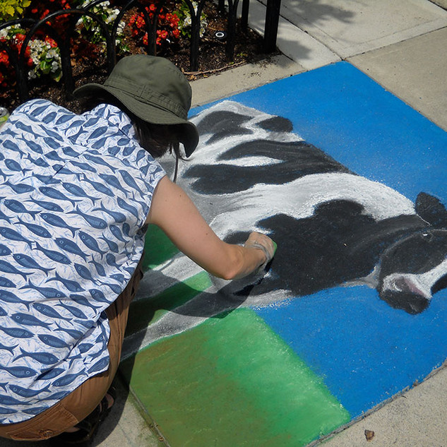 Chalk Art Demonstration