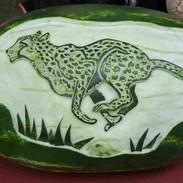 Leopard Melon Carving