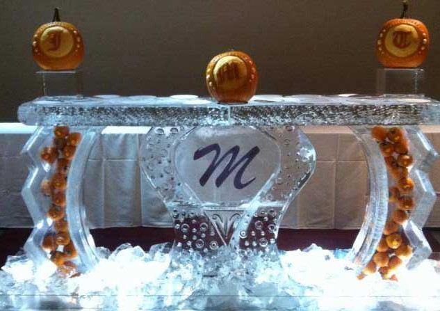 Ice Bar with Carved Pumpkins