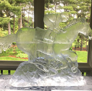 3D Ice Sculpture Horse and Rider