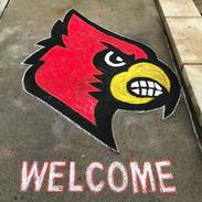 Chalk Drawing Cardinal Logo