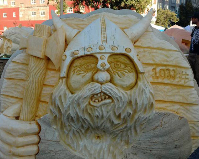 Viking Pumpkin Carving