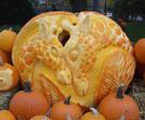 Pumpkin Carving of Giraffe