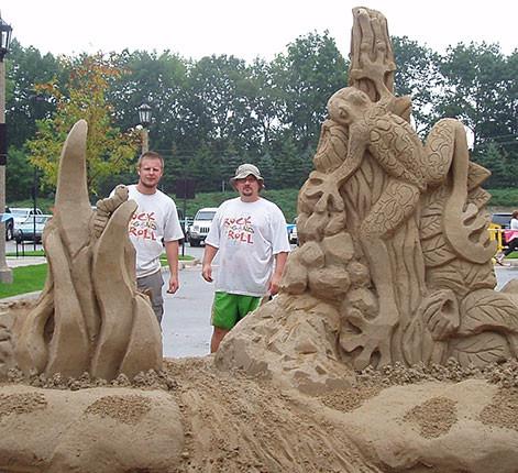 Sand Sculpture Frog
