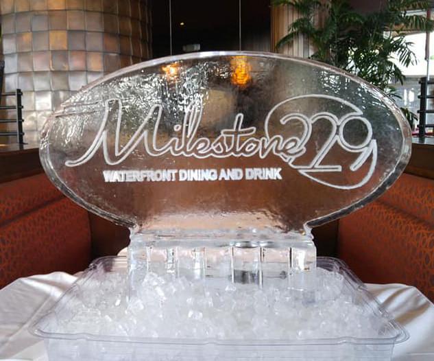 Milestone 229 Ice Sculpture
