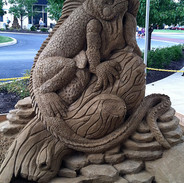 Lizard Sand Sculpture