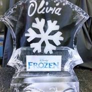 Disney Frozen Ice Sculpture