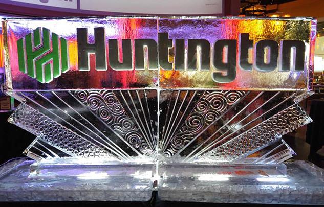Ice Sculpture Huntington Logo