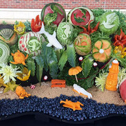 Food Art Display Blueberry Lagoon