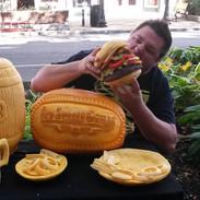 Hamburger Pumpkin Display
