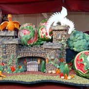 Potato Castle Food Art Sculpture
