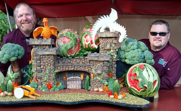 Potato Castle Food Art Sculpture